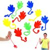 Multicolor Vinyl Sticky Hands and Feet Novelty Toy 72 Pack for Children's Parties - Funny Stretchy Mini Yoyo Sticky Fingers Kids Party Favors 72 Pk for Birthdays | Gags | Jokes | Stocking Stuffer