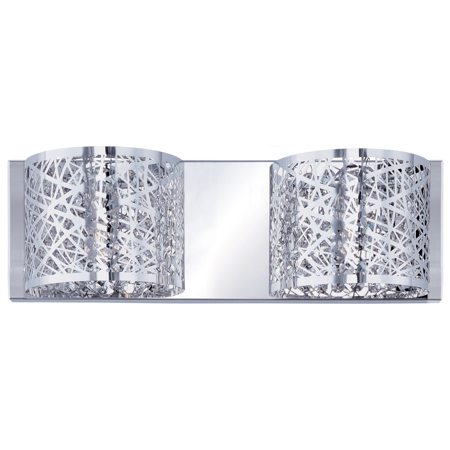Bathroom Vanity 2 Light With Polished Chrome Finish Metal/Steel Material G9 Bulb 4 inch 80 Watts