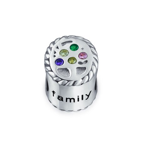 Bling Jewelry CZ Family Tree 925 Silver Charm Bead Chamilia Fits Pandora