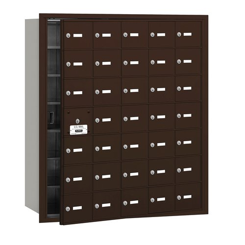 Salsbury Industries 4B+ Horizontal Mailbox 35 Doors Front Loading Private Access