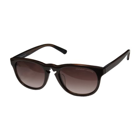 New Christian Lacroix 7003 Womens/Ladies Designer Full-Rim Gradient Brown Contemporary Prestigious Brand Must Have Frame Gradient Brown Lenses 52-20-0 (Christian Designer Sunglasses)
