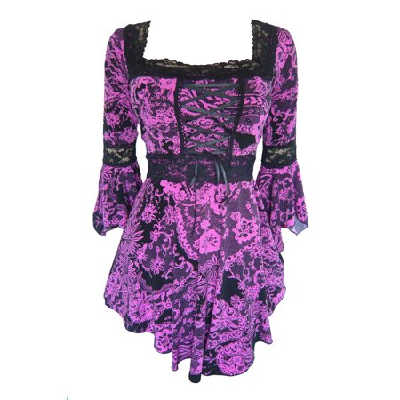 Dare To Wear Victorian Gothic Boho Renaissance Corset Top S - 5x