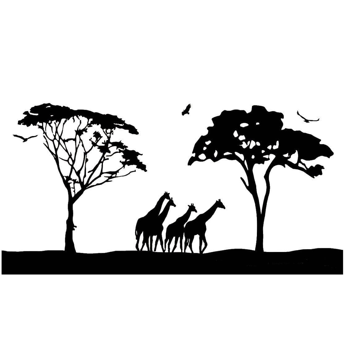 Vwaq Safari Wall Art Decals Large Animal Wall Decor