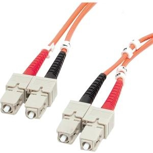 StarTech FIBSCSC1 1m Fiber Optic Cable - Multimode Duplex 62.5/125 - LSZH SC/SC