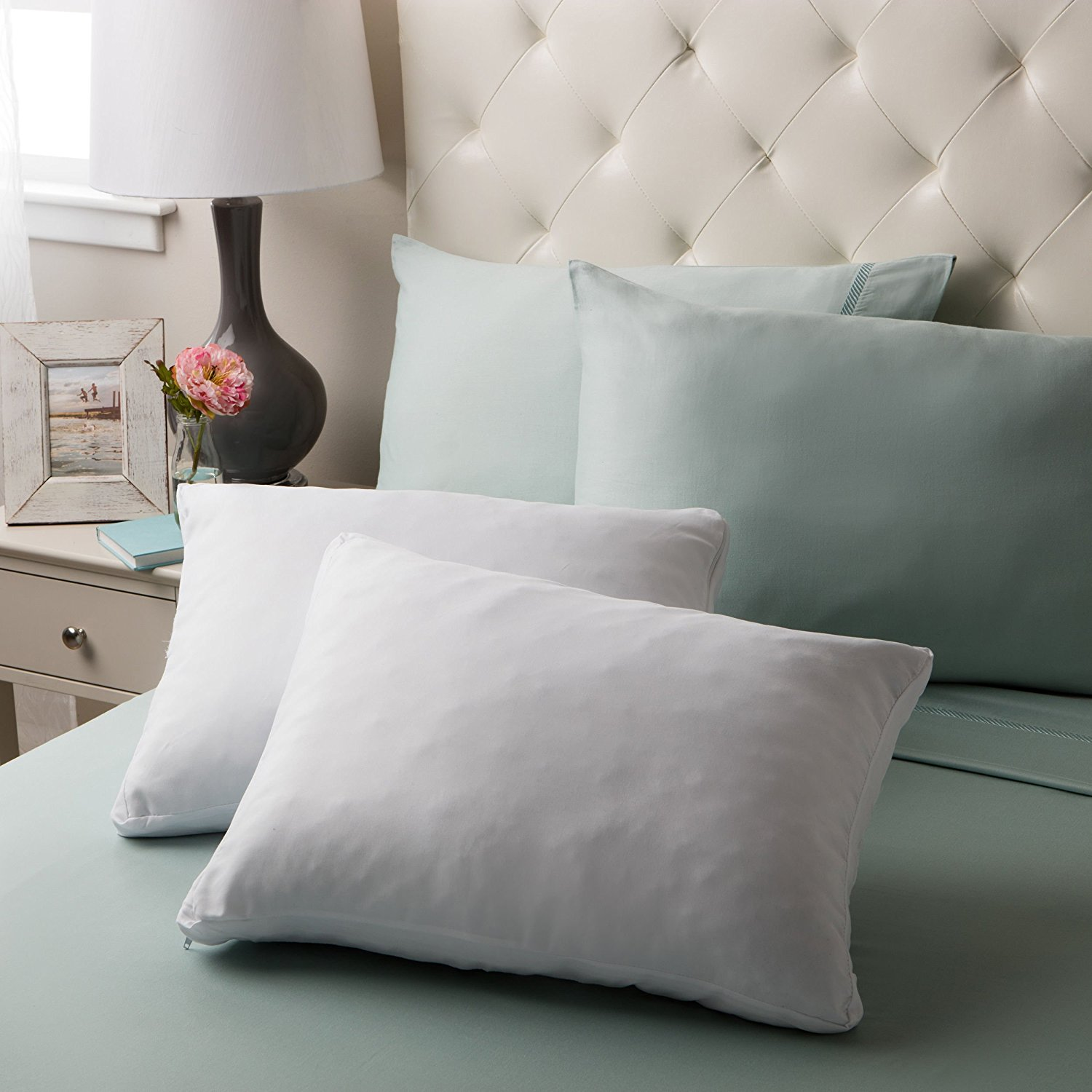 Gel Memory Foam Micro-Cushion Pillow (Set of 2), These pillows are assembled in the United States from American made foam By Serta Ship from US