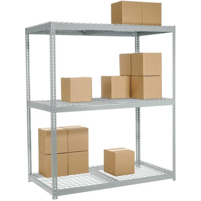 Nexel Industries WR6248 3 Tier Wide Span Storage Rack, Gray - 72 x 24 x 96 inch