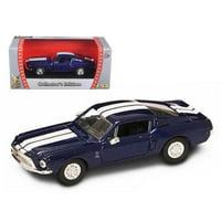 1968 Ford Shelby Mustang GT 500 KR Matt Black 1/43 Diecast Model Car by Road Signature
