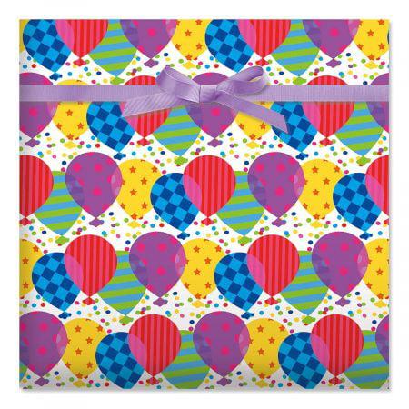 pattern balloons birthday jumbo rolled gift wrap 72 sq ft