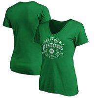 Detroit Pistons Fanatics Branded Women's St. Patrick's Day Tullamore V-Neck T-Shirt - Green