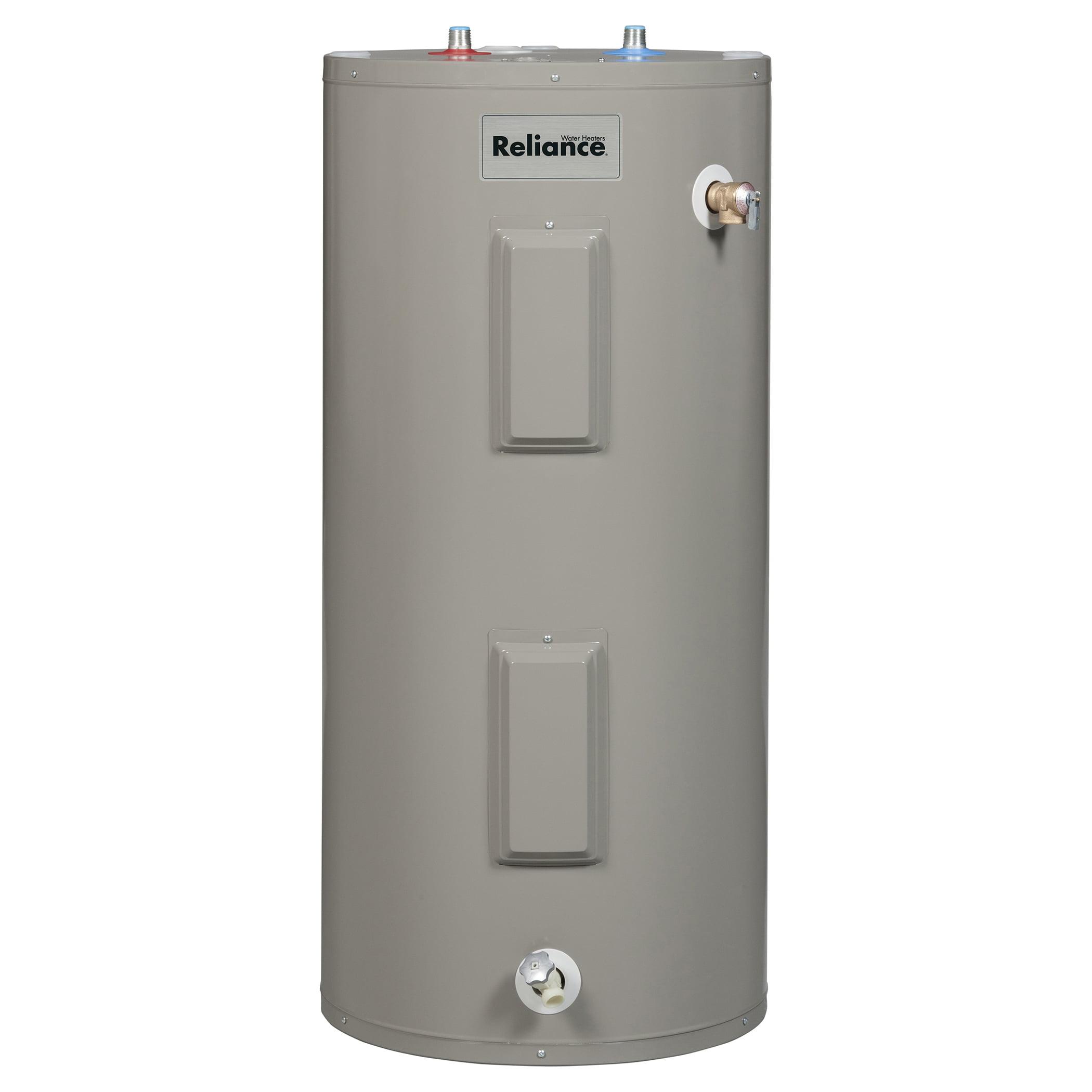 reliance 6 40 eors 40 gallon electric medium water heater - walmart