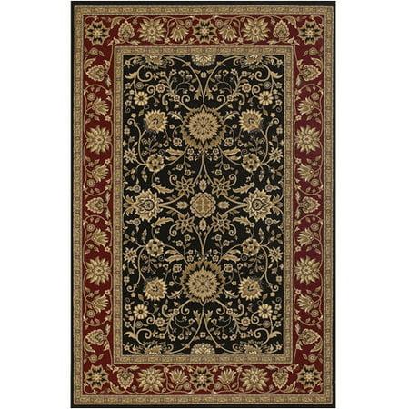 chandra rugs diamond black red area rug. Black Bedroom Furniture Sets. Home Design Ideas