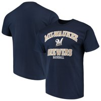 Men's Majestic Navy Milwaukee Brewers High Praise Team T-Shirt
