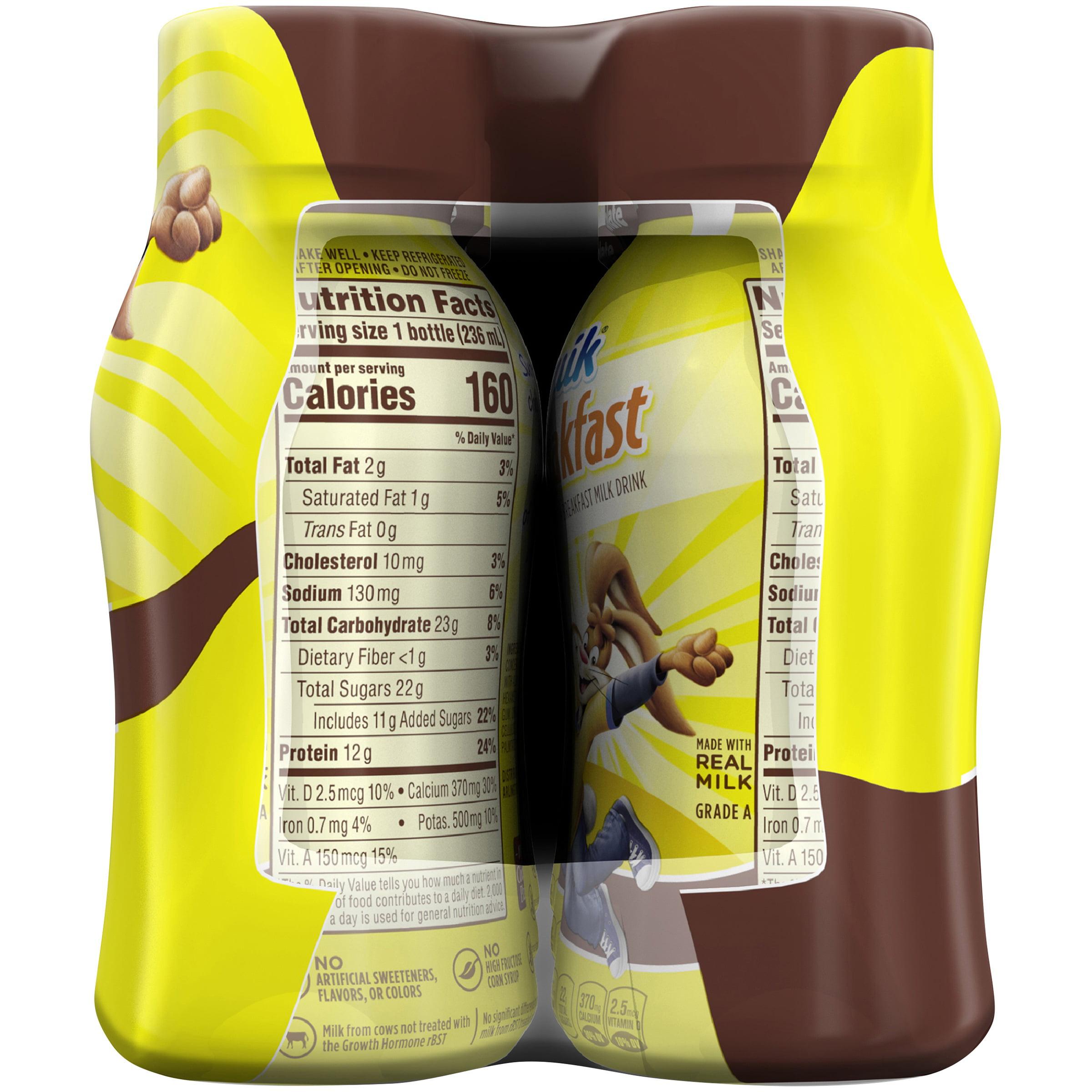 NESQUIK SUPERBREAKFAST Protein Breakfast Milk Drink, Chocolate – Portable Breakfast Drink with Real, Wholesome Milk, No Artificial Sweeteners, ...