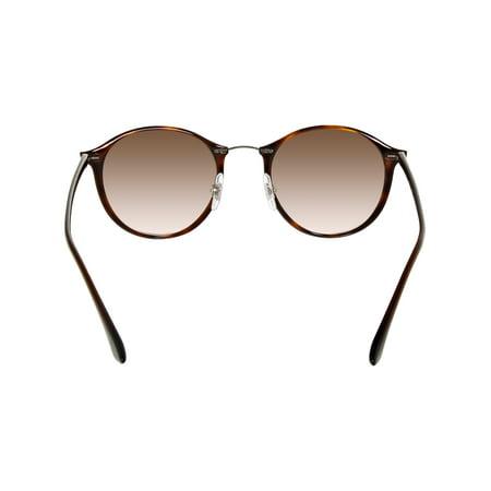 c89c6c587327c Ray-Ban Men s Gradient Round II Lightray RB4242-620113-49 Brown Sunglasses  ...