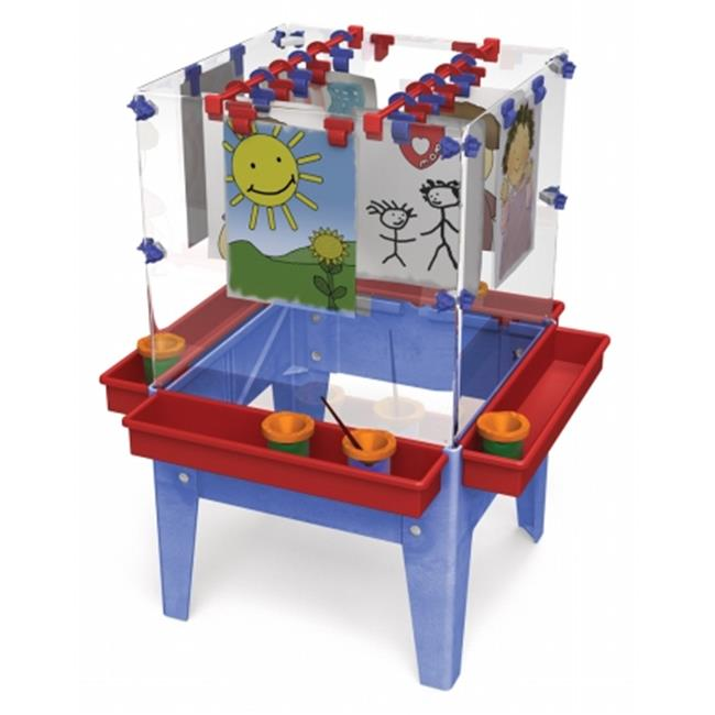 Click here to buy Manta Ray S13818 Toddler 4 Station Space Saver Easel by Manta Ray.