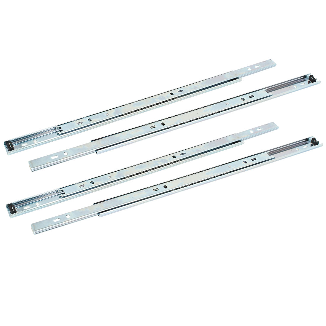 Uxcell Cabinet Drawer 2-Section Telescopic Ball Bearing Slides Rail 16'' Length 4Pcs