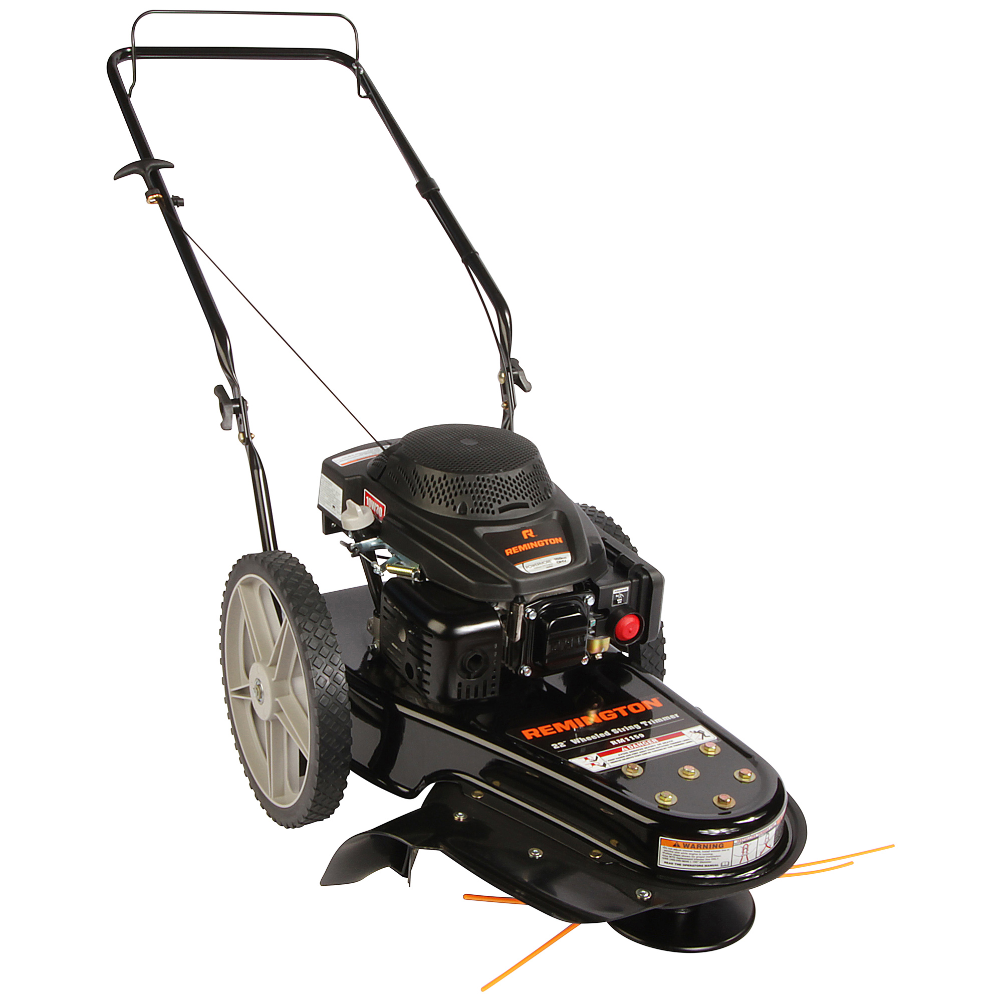 "Remington 22"" Gas Powered Wheeled String Trimmer Lawn Mower"