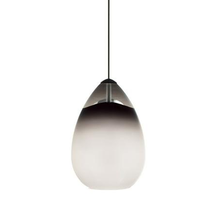 - Tech Lighting 700MOALIK Halogen Low-Voltage Alina MonoRail Pendant with Smoke Hand-blown Venetian Teardrop Shaped Glass Shade