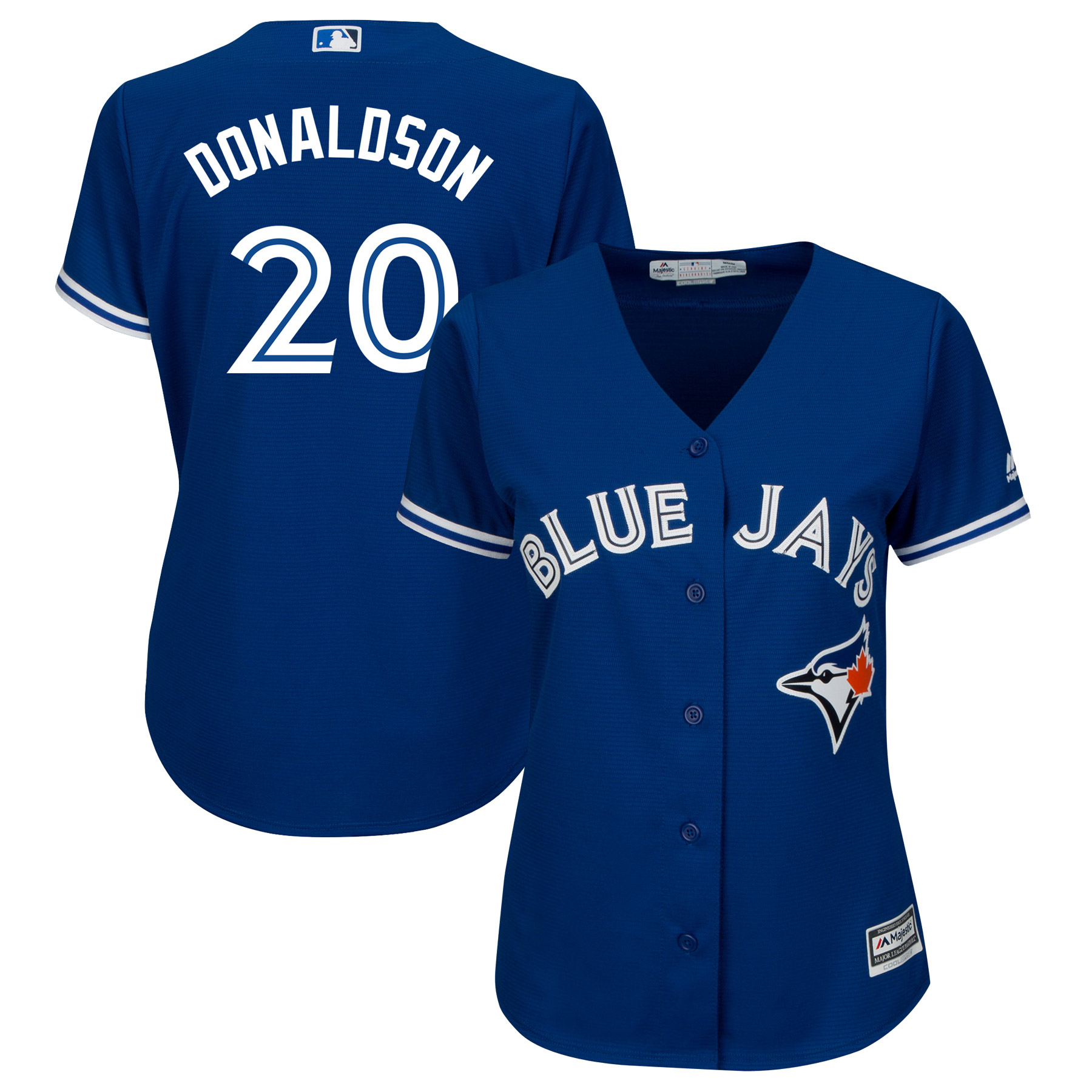 Josh Donaldson Toronto Blue Jays Majestic Women's Plus Size Alternate Cool Base Player Jersey - Royal