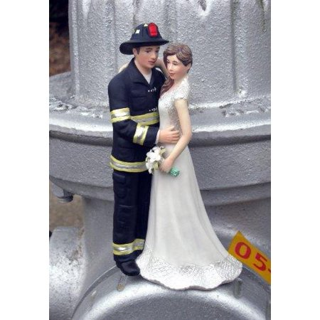 Firefighter Cake Topper (Magical Day B00GGPG37C Firefighter Wedding Cake Topper,)
