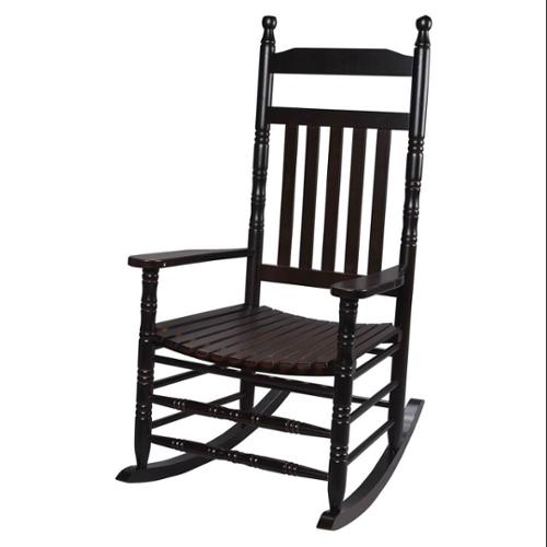 Hardwood Tall Back Rocking Chair in Espresso