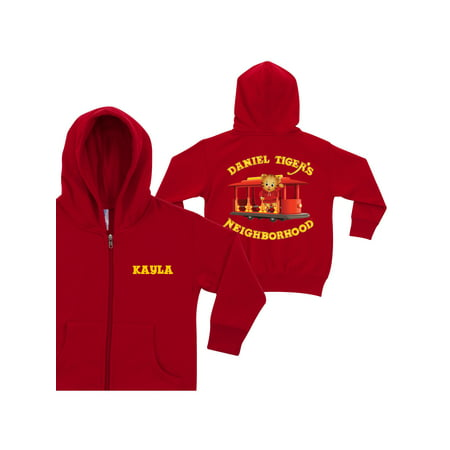 Personalized Daniel Tiger's Neighborhood Toddlers' Red Zip-Up Hoodie