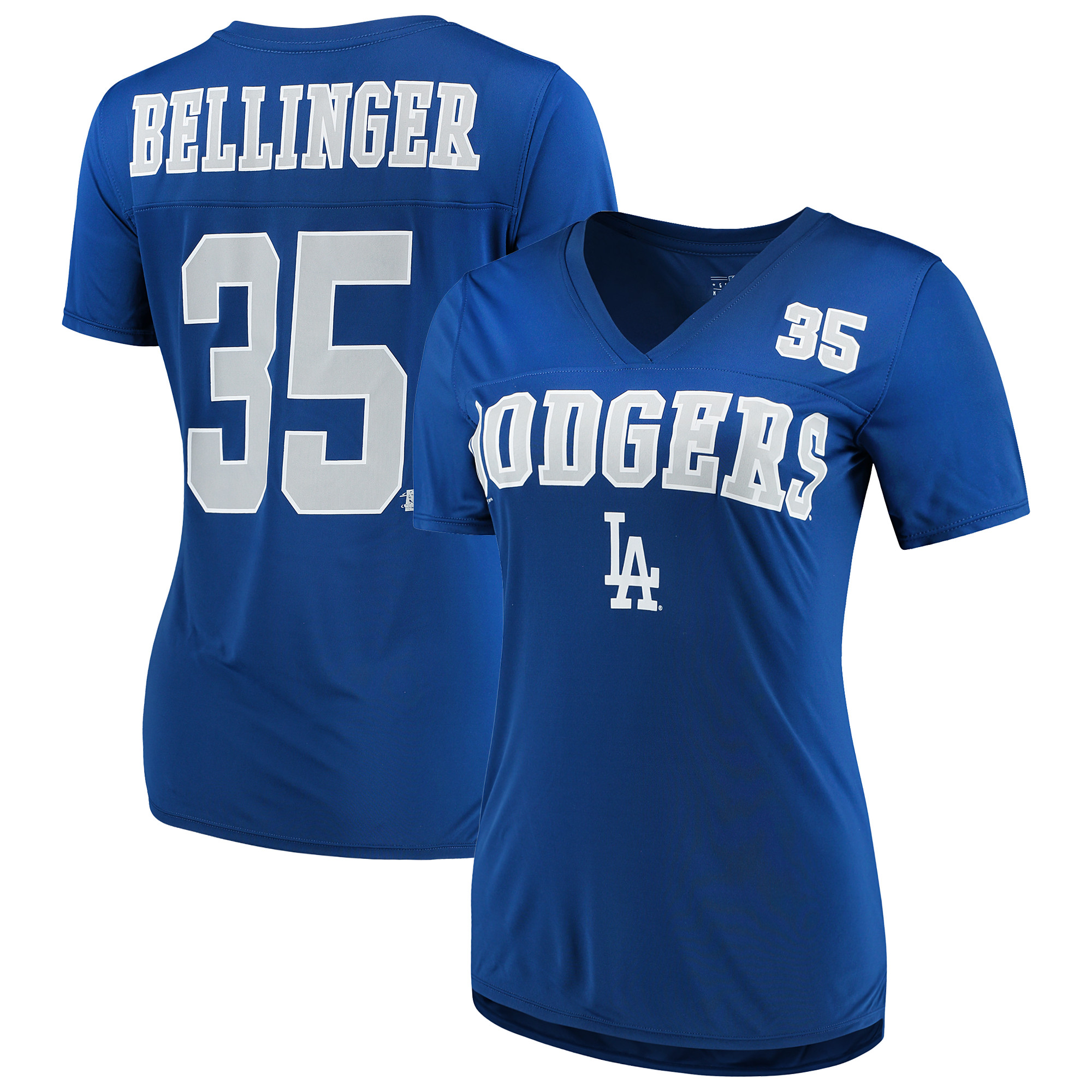 Women's New Era Cody Bellinger Royal Los Angeles Dodgers Name & Number T-Shirt
