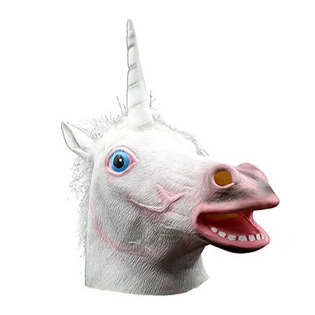 Halloween Costume Party Latex Unicorn Head Mask](Unicorn Head Costume)