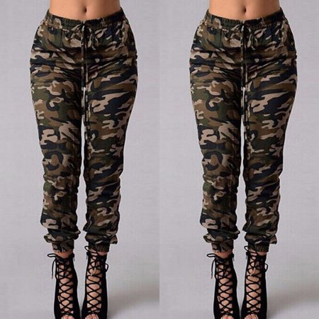 Camouflage Cargo Pants (Women Camouflage Pants Camo Casual Cargo Joggers Military Army Harem Pants Trousers S)
