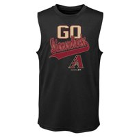 MLB Arizona DIAMOND BACKS TEE Sleeveless Boys Fashion Jersey Tee 100% Polyester Quick Dry Alternate Color Team Tee 4-18