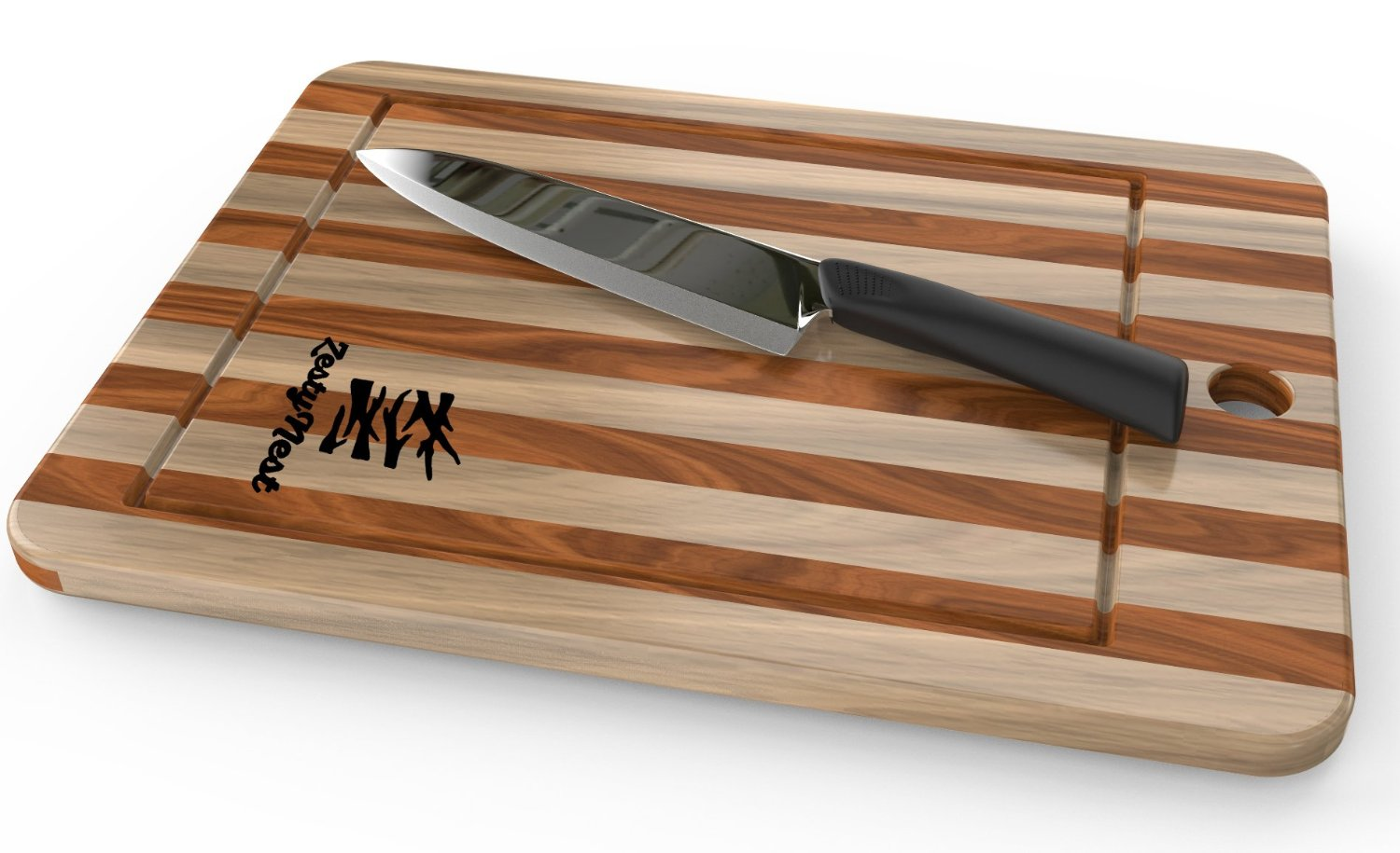 Bamboo Cutting Board With Drip Groove and Non-Slip Feet For Meat & Veggie Prep by ZestyNest