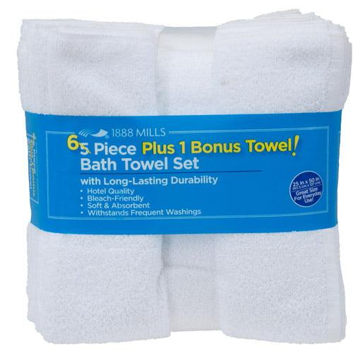 6-Piece Value Bath Towel Set, White