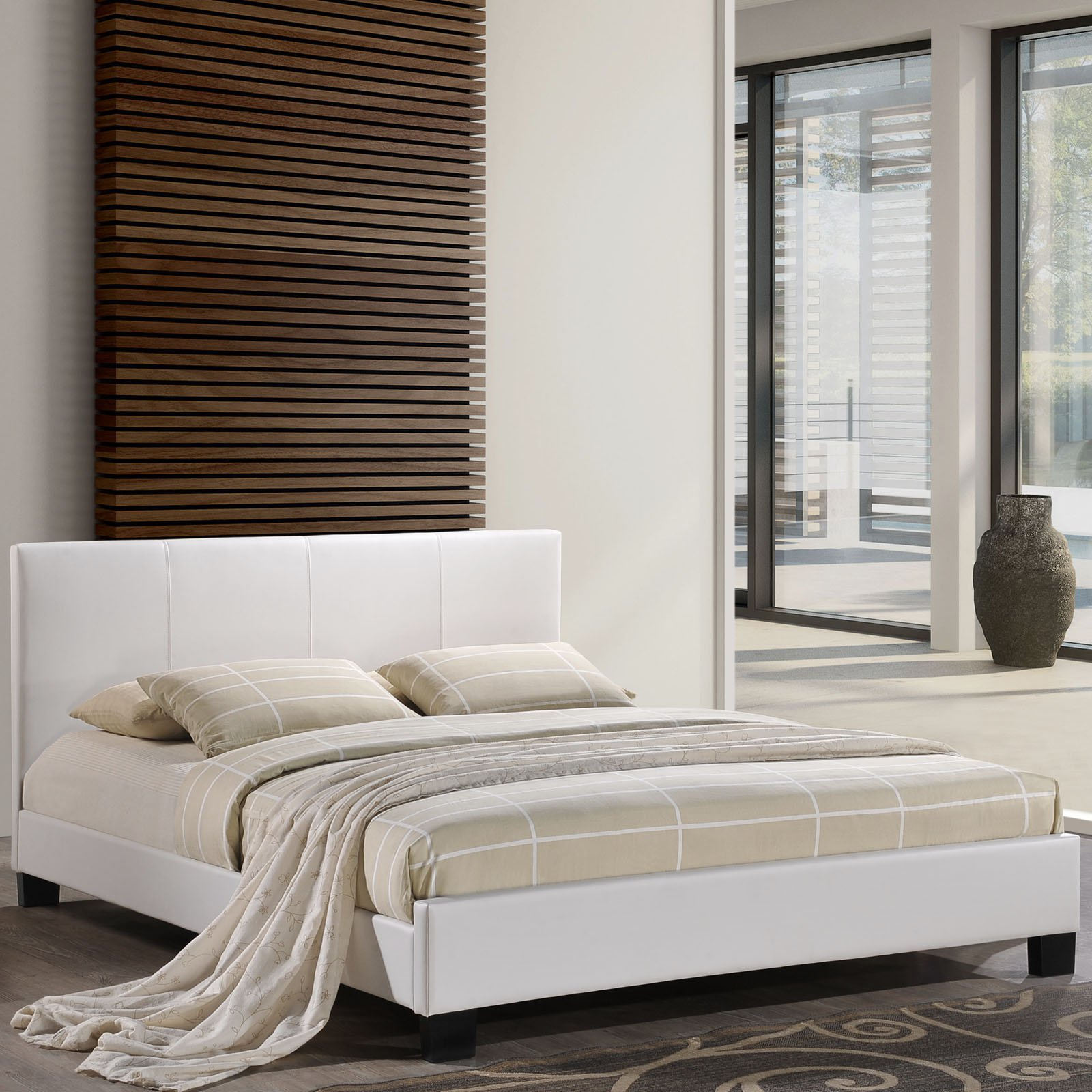 Modway Alex Queen Leatherette Platform Bed, Multiple Colors ...