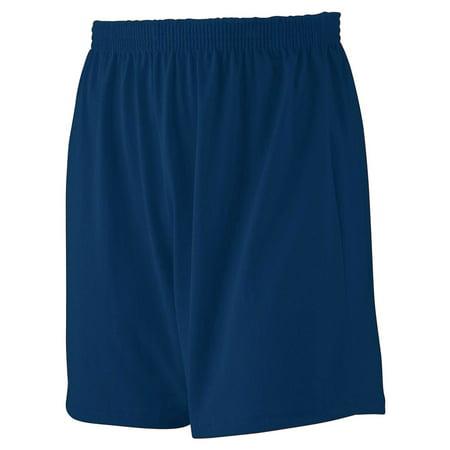 Augusta Sportswear Mens Heavyweight Jersey Knit Short, Navy, 3XL, Style,