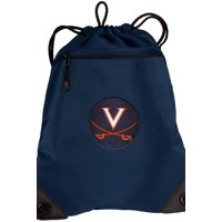 University of Virginia Cinch Pack Backpack TWO SECTION UVA Drawstring Bag with Unique Mesh & Microfiber Sections