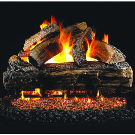 - Peterson Real Fyre 20-inch Split Oak Gas Log Set With Vented Natural Gas Ansi Certified G46 Burner - Manual Safety Pilot