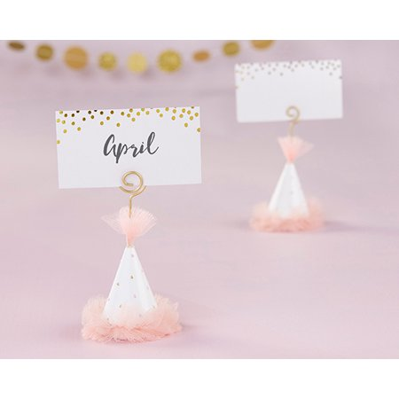 Pink Party Hat Place Card Holder (Set of - Party Place Card Holders