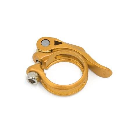 Gold Tone Alloy Mountain Bike Bicycle Saddle Seat Post Seatpost Clamp 34.9mm - image 3 de 3