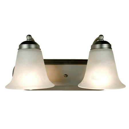 Bel Air Lighting CB-3502-BN 2 Light Brushed Nickel Bathroom Light Bar Bel Air Bathroom Light