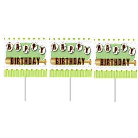 BaseBall Bat Birthday Party Cupcake Picks -24pack - Baseball Themed Party