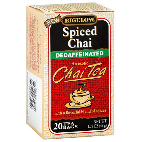 Bigelow Spiced Chai Decaffeinated Tea, 20ct (Pack of 6)