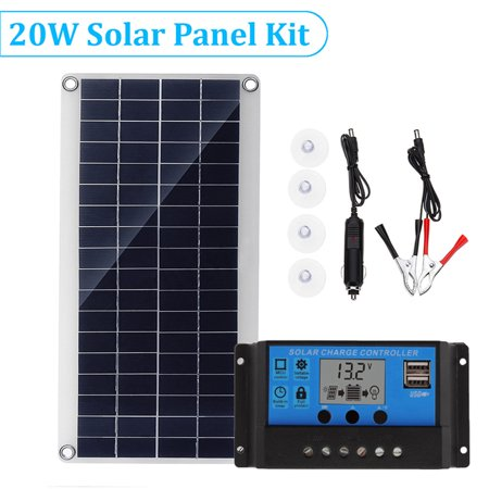 Portable Solar Charger Power Supply Kit 20w Solar Panel