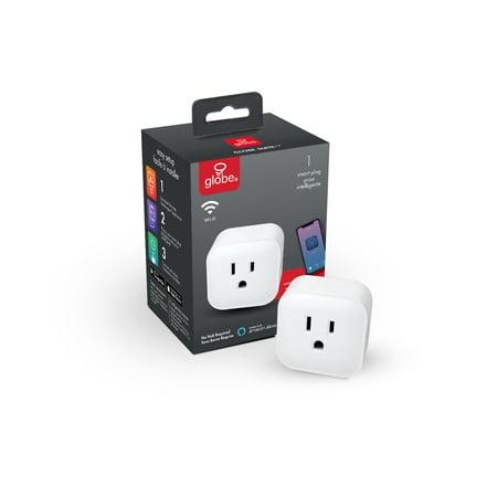 Globe Electric Wi-Fi Smart Plug, No Hub Required, White, 50114 ()