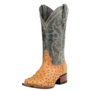 Stetson Western Boots Mens Leather Ostrich Tan 12-020-1852-0211 TA