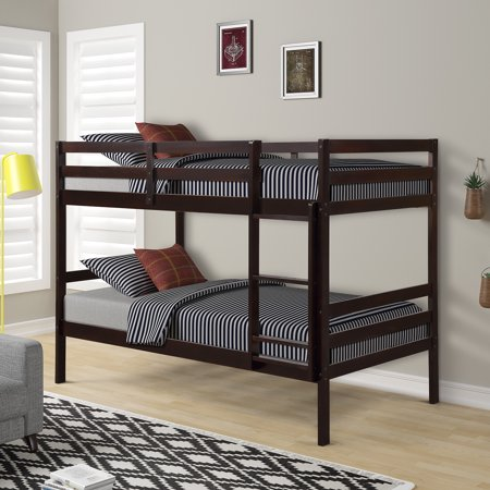 JUMPER Twin Bunk Bed Twin Over Twin Trundle Bunk Bed Frame for Kids Wood Bunk Bed with Stairs, Multiple (White Bunk Beds With Stairs And Trundle)