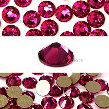 Wholesale Crystal Jewelry (FUCHSIA (502) hot pink Swarovski NEW 2088 XIRIUS Rose 20ss 5mm flatback No-Hotfix rhinestones ss20 144 pcs (1 gross) *FREE Shipping from Mychobos)