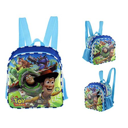 617655ca5c2 Disney Toy Story New Light Blue Toddler 10 Mini Backpack- Buzz Light year  Woody A ...