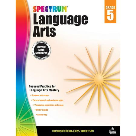 - Carson Dellosa CD-704592 Spectrum Language Arts Gr 5
