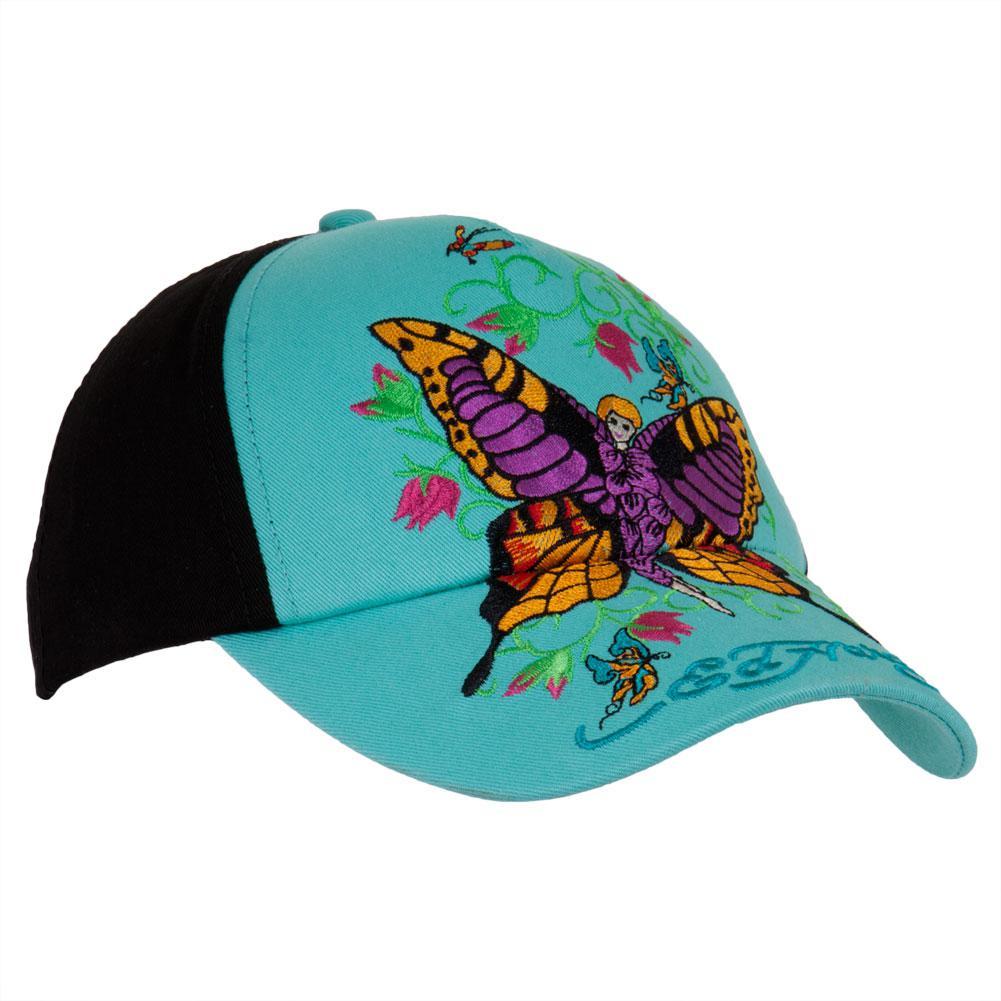 Ed Hardy Dragon In Roses Girls Youth Adjustable Baseball Cap
