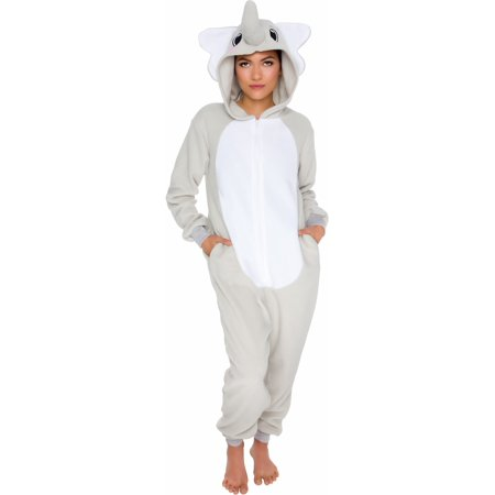 Silver Lilly Adult Slim Fit One Piece Cosplay Elephant Animal - Cute Women Onesies